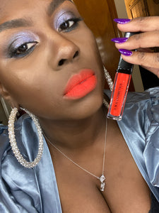 "Burnt Orange Matte Lipstick ""Tangelo"""