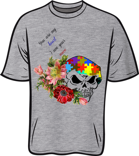 Autism Skull Short sleeve T shirt