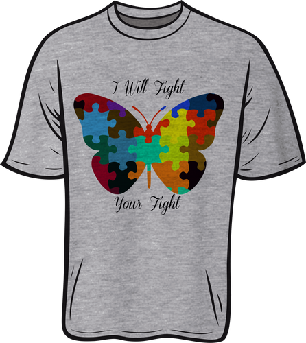 Autism Butterfly Short sleeve T shirt