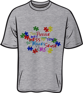 Autism Makes sense 2 me Short sleeve T shirt