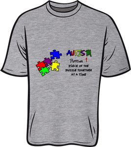Autism  1 piece of the puzzle Short sleeve T shirt