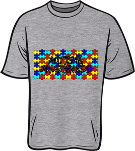 Autism awareness Short sleeve T shirt