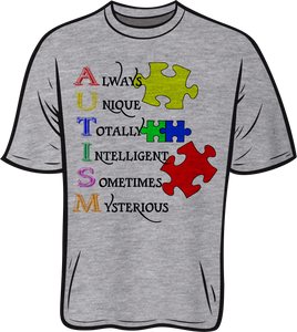 Autism words Short sleeve T shirt