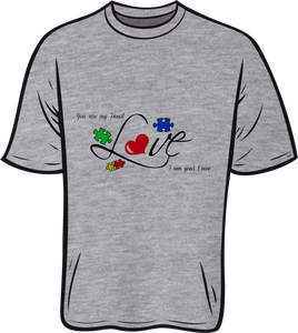 Autism Love Short sleeve T shirt