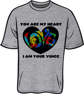 Autism Heart Short sleeve T shirt