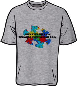 Autism Feel no pain Short sleeve T shirt