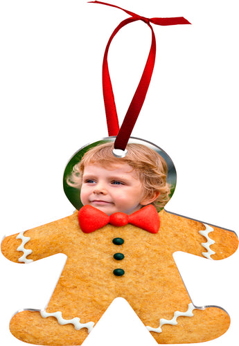 2 sided aluminum Gingerbread Person ornament