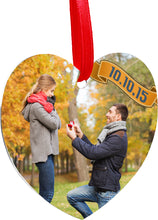 Load image into Gallery viewer, 2 sided aluminum Heart ornament