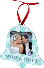 Load image into Gallery viewer, 2 sided aluminum Bell ornament