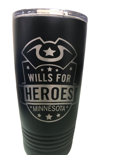 Wills for Heroes Minnesota 20oz Tumbler