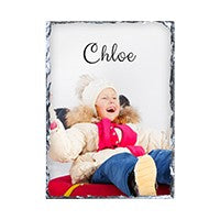 "5.5""x7.5: rectangle gloss finish photo slate"