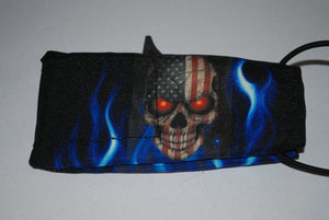 Skull with Blue Flames Barrel cover