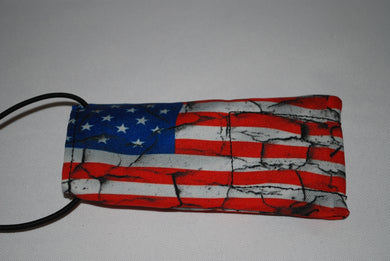 Cracked American Flag Barrel cover