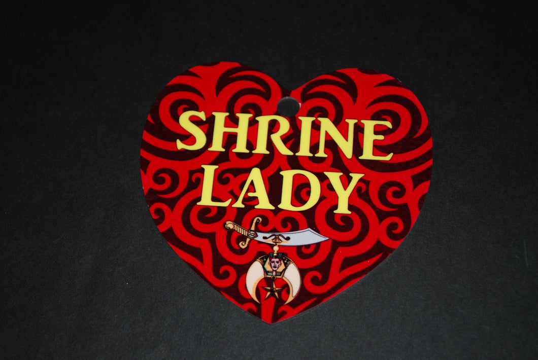 Shrine lady heart Aluminum Ornament