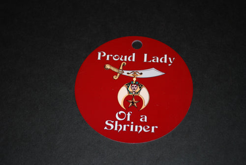 Shriner lady  Aluminum Ornament