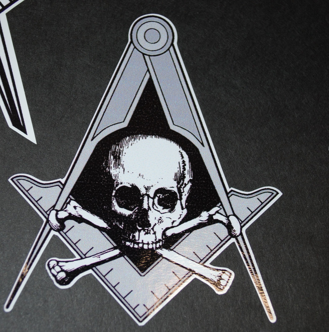 Square and Compass with Skull And Crossbones
