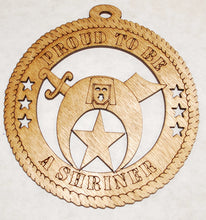 Load image into Gallery viewer, Proud to be a Shriner 2 laser cut ornament