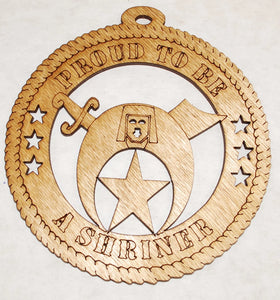 Proud to be a Shriner 2 laser cut ornament