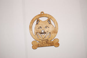 SAMOYED LASER CUT Dog Ornament