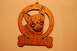 CHIHUAHUA LASER CUT Dog Ornament