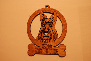 SCOTTIE LASER CUT Dog Ornament