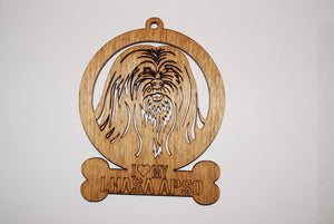 LHASA APSO LASER CUT Dog Ornament