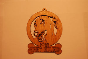 GREY HOUND LASER CUT Dog Ornament