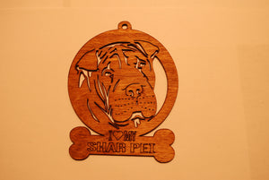 SHAR PEI LASER CUT Dog Ornament