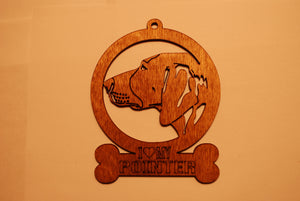 POINTER LASER CUT Dog Ornament