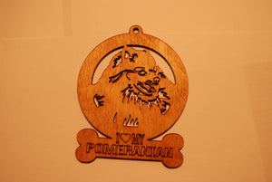 POMERANIAN LASER CUT Dog Ornament