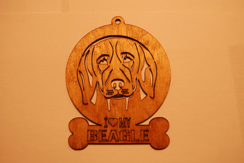 BEAGLE LASER CUT Dog Ornament