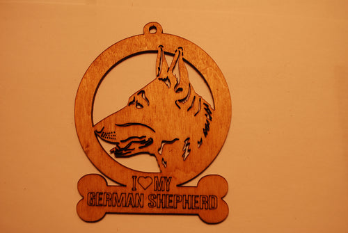 GERMAN SHEPHERD LASER CUT Dog Ornament