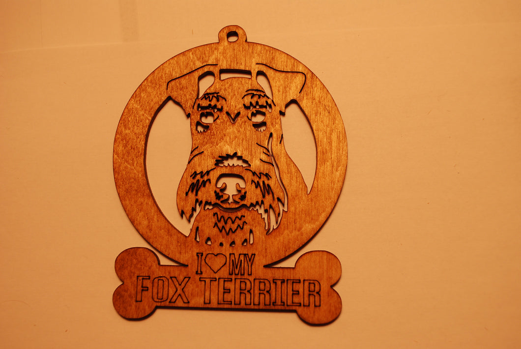 FOX TERRIER LASER CUT Dog Ornament