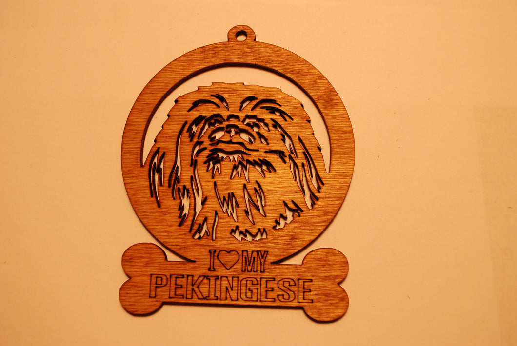 PEKINGESE LASER CUT Dog Ornament