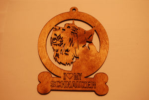 SCHNAUZER LASER CUT Dog Ornament