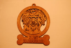HAVANESE LASER CUT Dog Ornament