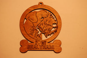 SEALYHAM LASER CUT Dog Ornament