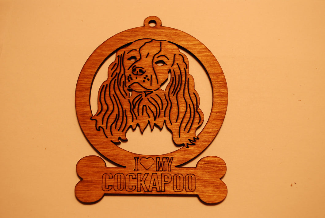 COCKAPOO LASER CUT Dog Ornament