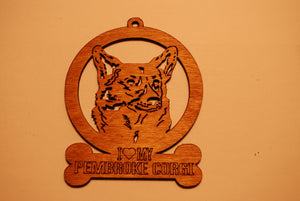 PEMBROKE CORGI LASER CUT Dog Ornament