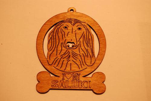 SALUKI LASER CUT Dog Ornament