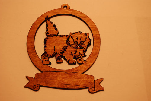 LASER CUT CAT Ornament