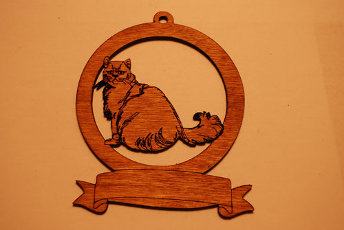 LASER CUT CAT 3 Ornament