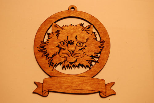 LASER CUT CAT 7 Ornament