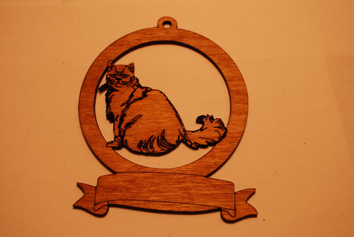 LASER CUT CAT 9 Ornament