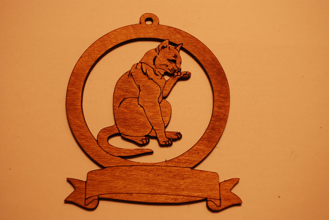 LASER CUT CAT 2 Ornament