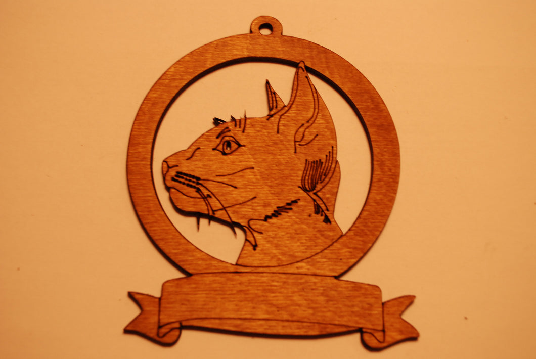 LASER CUT CAT 4 Ornament