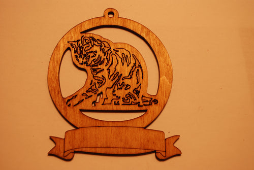 LASER CUT CAT 6 Ornament