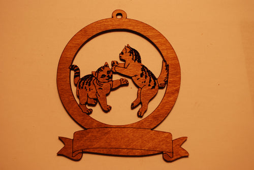 LASER CUT CAT 8 Ornament