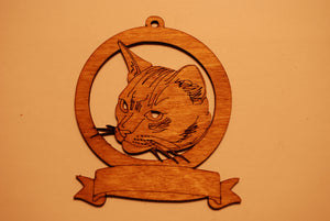 LASER CUT CAT 10 Ornament