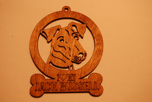 JACK RUSSELL  LASER CUT Dog Ornament